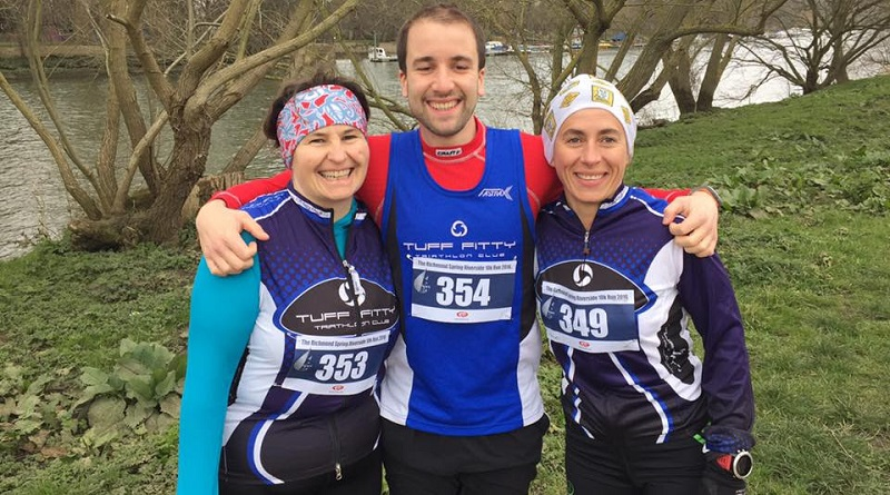 Kirsty Keith, Andy Strong and Miki Floyd at the Richmond Riverside 10k