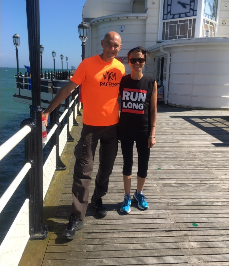 Steve and Sim on Worthing Pier – Frost/Nixon, Worthing style